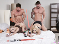 Daughter Swap Star Wars Cosplay Family Sex 2018 - Chanel Grey, Chloe Temple - HQ